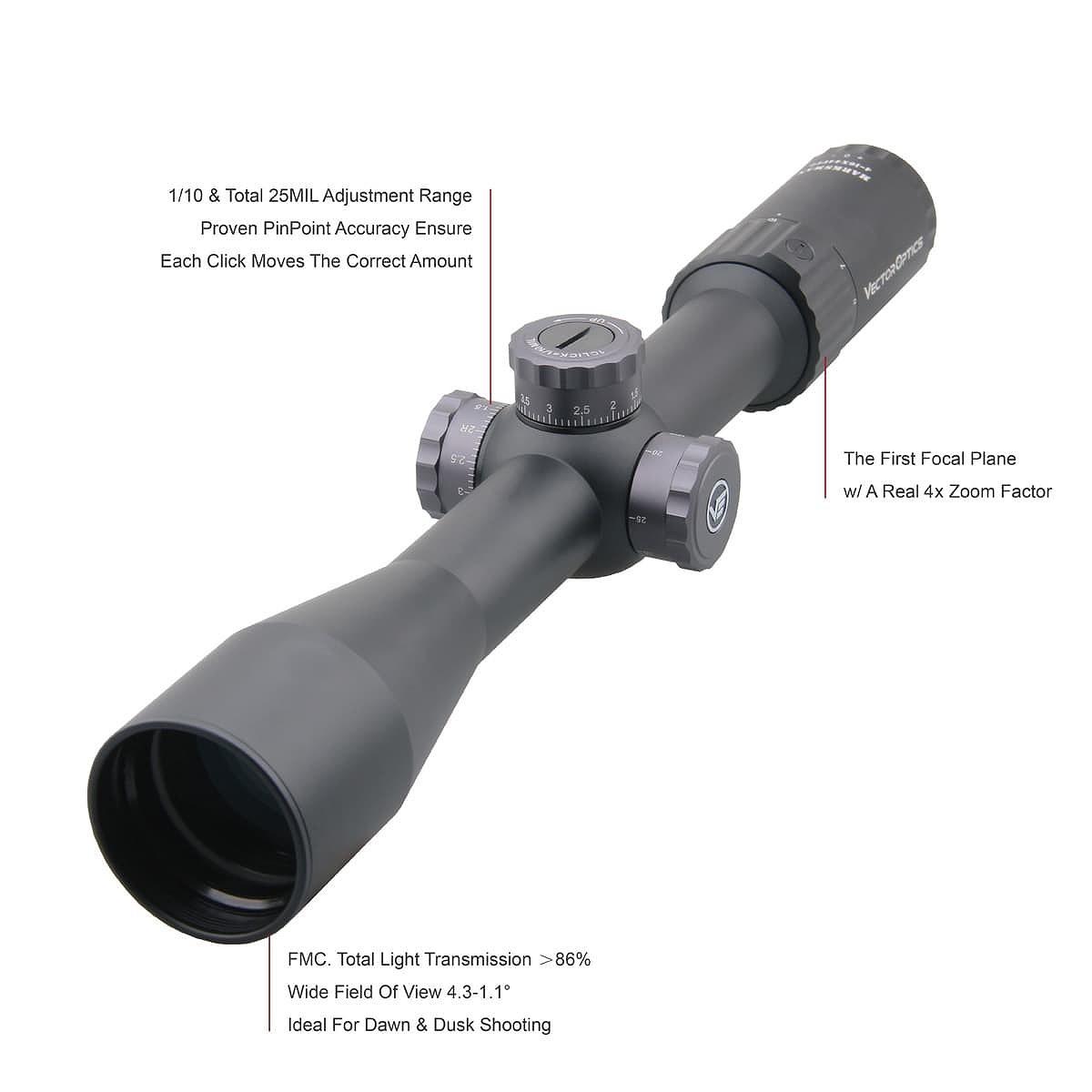 【お届け予定日: 5月30日】ベクターオプティクス ライフルスコープ Marksman 4-16x44FFP  Vector Optics SCFF-25
