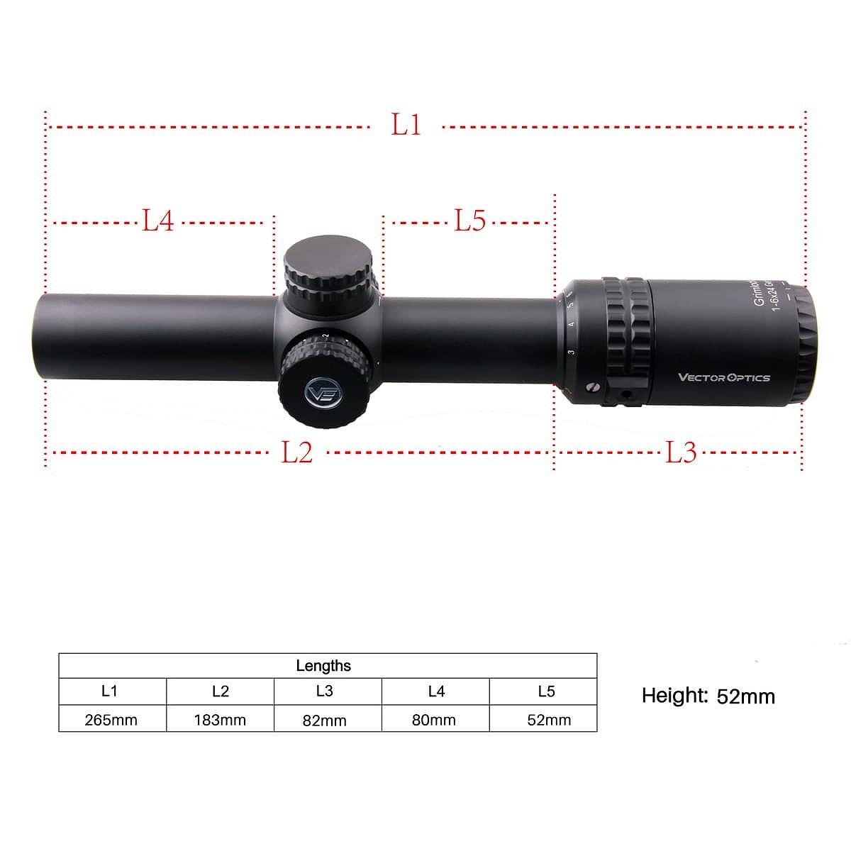 ベクターオプティクス ライフルスコープ Grimlock 1-6x24 GenII  Vector Optics SCOC-13II