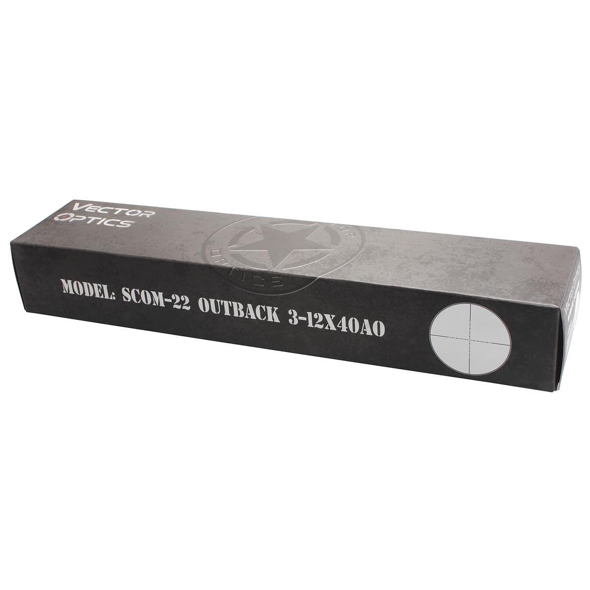 【お届け予定日: 3月30日】ベクターオプティクス ライフルスコープ Outback 3-12x40  Vector Optics SCOM-22