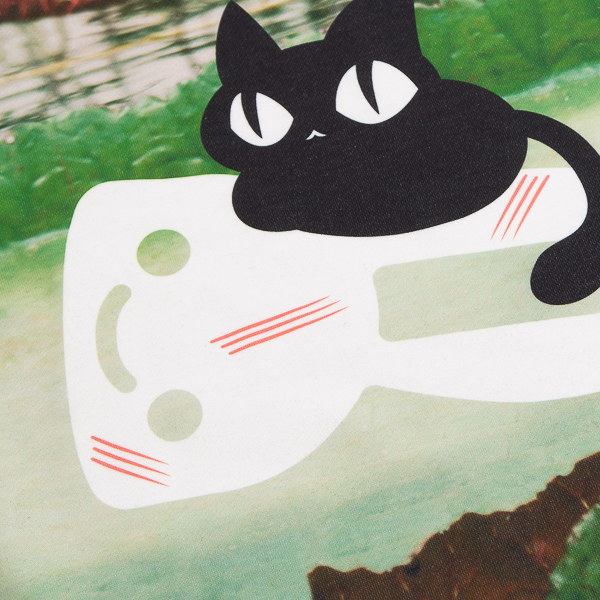 CUNE.鳥と猫のパーカー