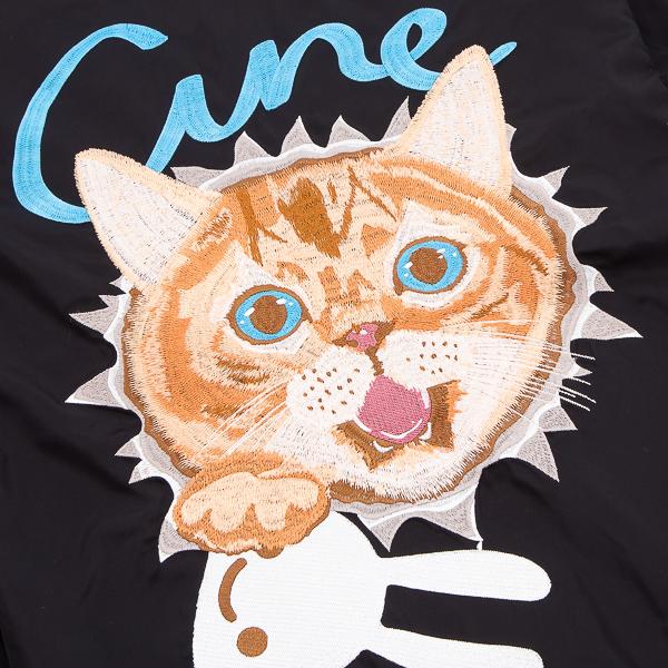CUNE.飛び出す猫のナイロンスタジャン