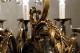 12灯式 アカンサスモチーフのアンティークブロンズシャンデリア 1342