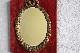 フランス ナポレオン三世 ゴールドペインテッド&ベルベットフレームミラー 3170