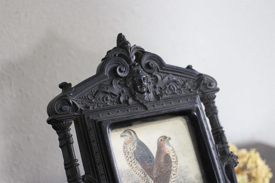 フランス ナポレオン三世時代 フレーム (手彩色銅版画入り) 4203