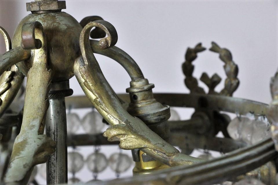 ルイ15世様式 リボンモチーフのフレンチシャンデリア 4714