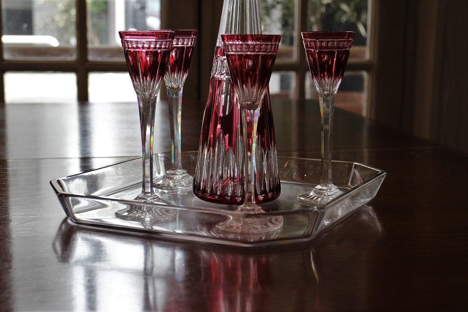 サンルイ NELLY カラフェ&グラス&トレイセット 4204