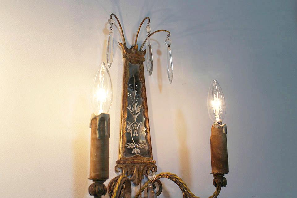 ≪ 商談中 ≫ ベネチアン ウォールブラケットランプ 2379