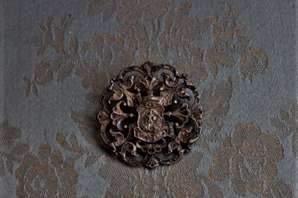 フィリグリー アンティークブローチ ベルギー 2267