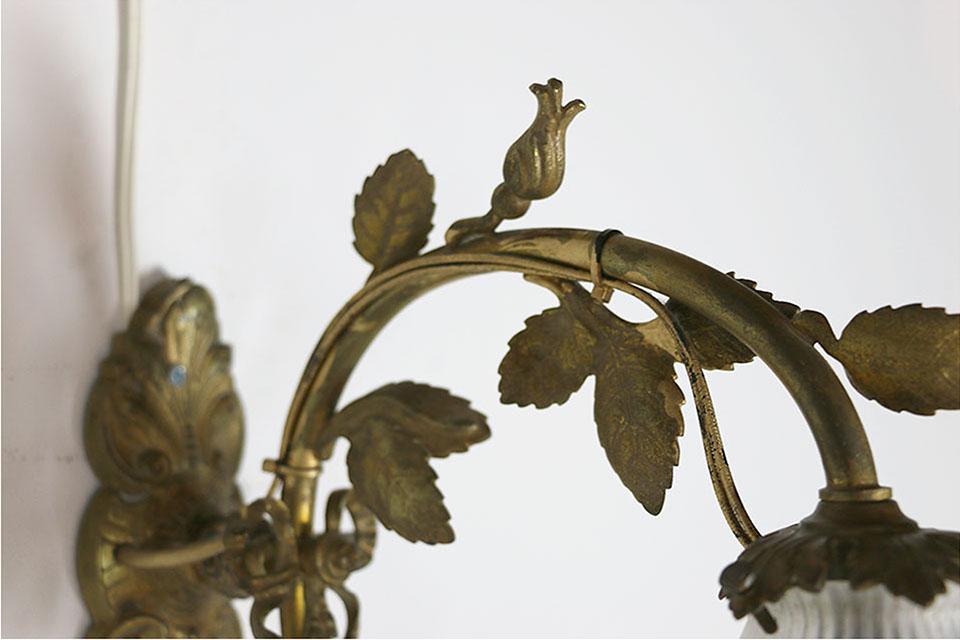フランス ブロンズウォールブラケットランプ 1458
