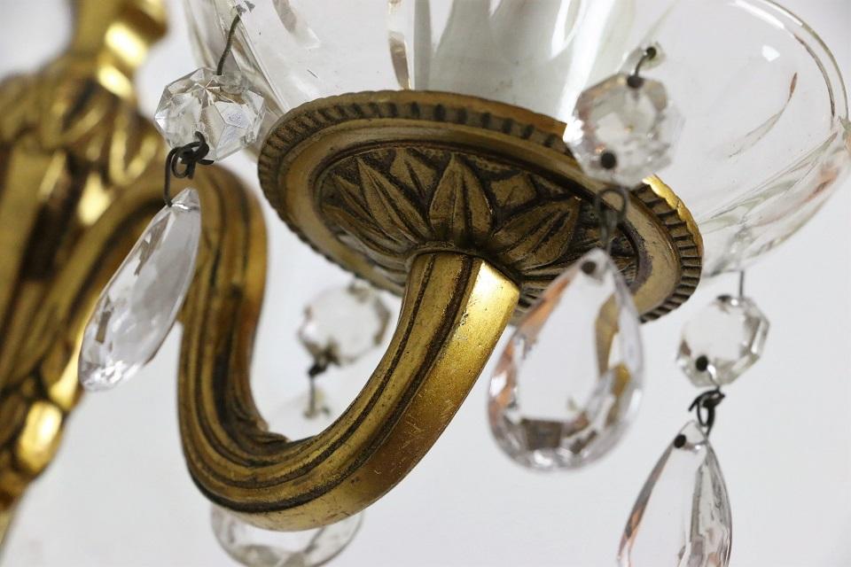 ドロップが揺れる真鍮ウォールランプ 4510
