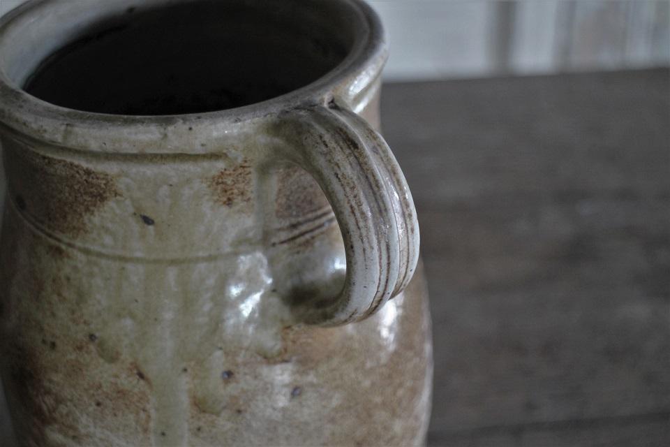 フランスノルマンディー 陶器 ポタリージャグ 410809