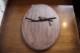 フランス ローズが彫られた黒のペインテッド木製オーバルミラー 4642
