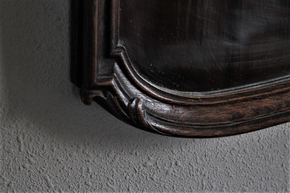 美しい彫刻が施されたオークのミラー 4662