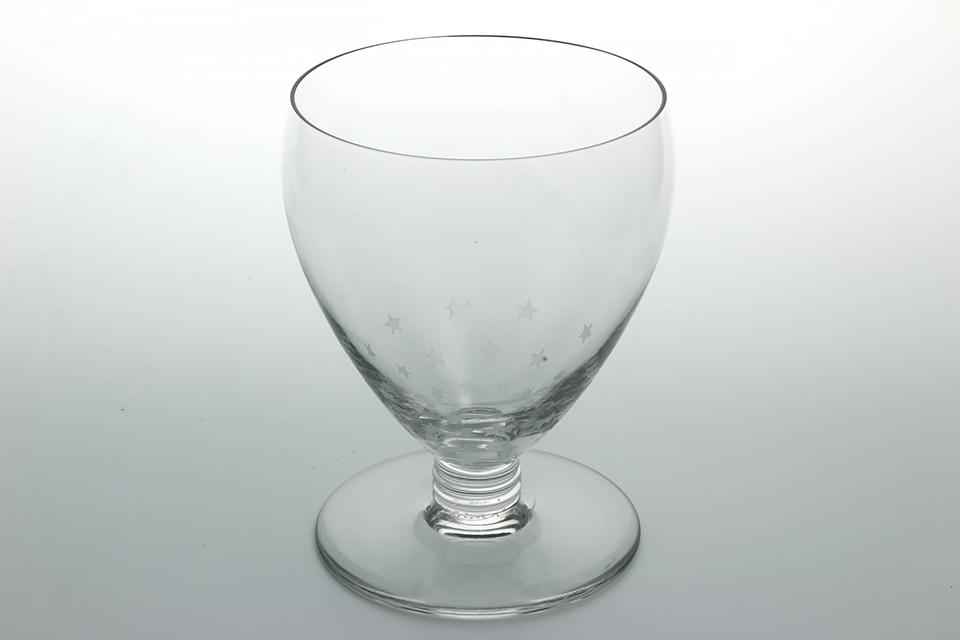 バカラ シュヴェルニー ワイングラス 星柄 109mm 2523-25、26