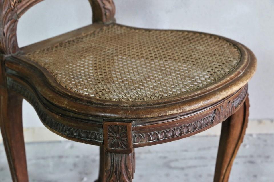 ルイ15世様式 ケーン編みのラタンチェア 459601