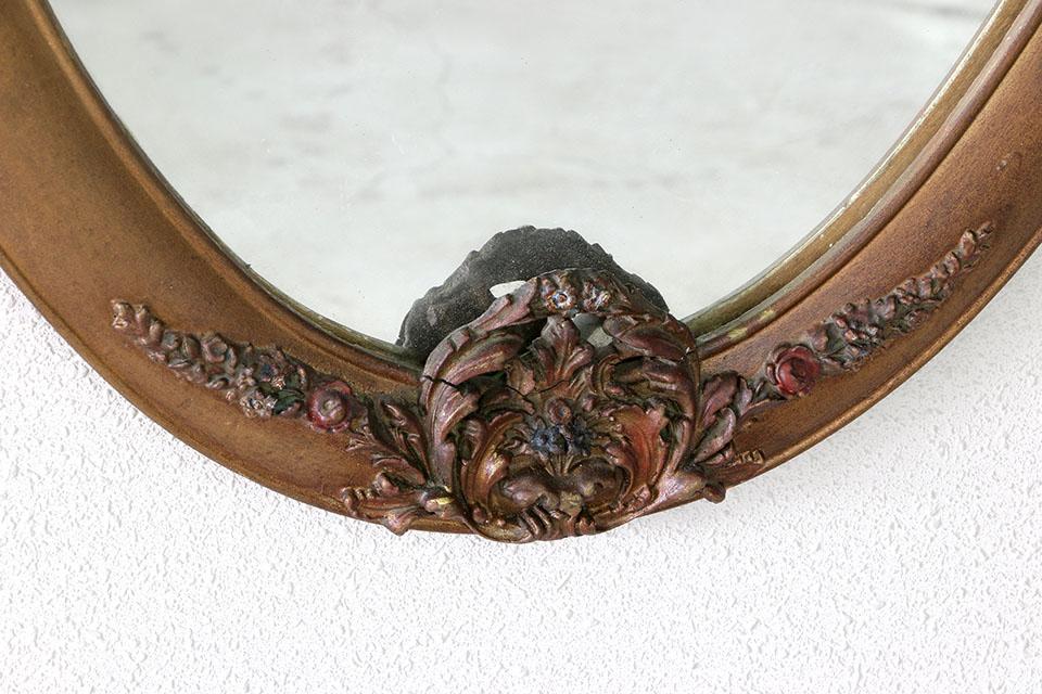 《 SALE 》 ルイ15世様式 花綱ミラー 570