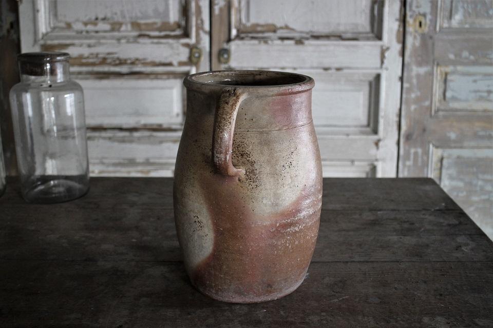 フランス  ノルマンディー 陶器 ポタリージャグ 410803
