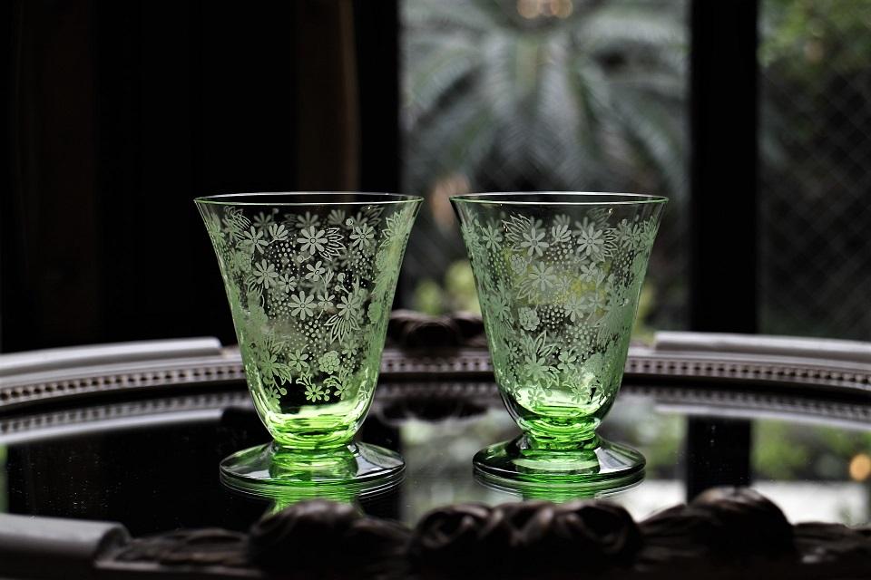 バカラ エリザベート グリーン ワイングラス 5050_5037