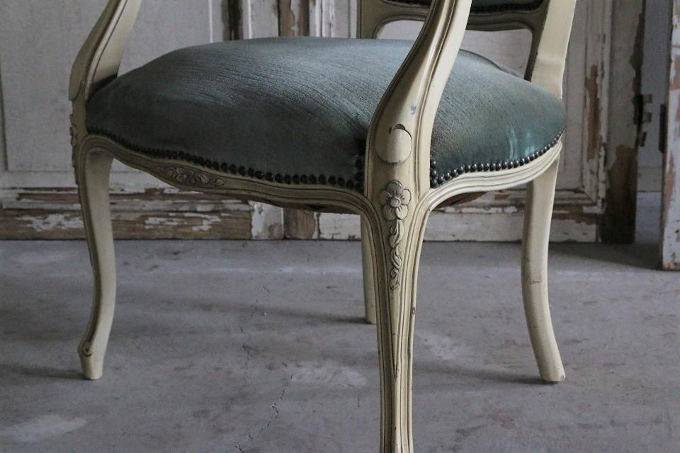 ルイ15世様式 ペインテッドアームチェア 450102