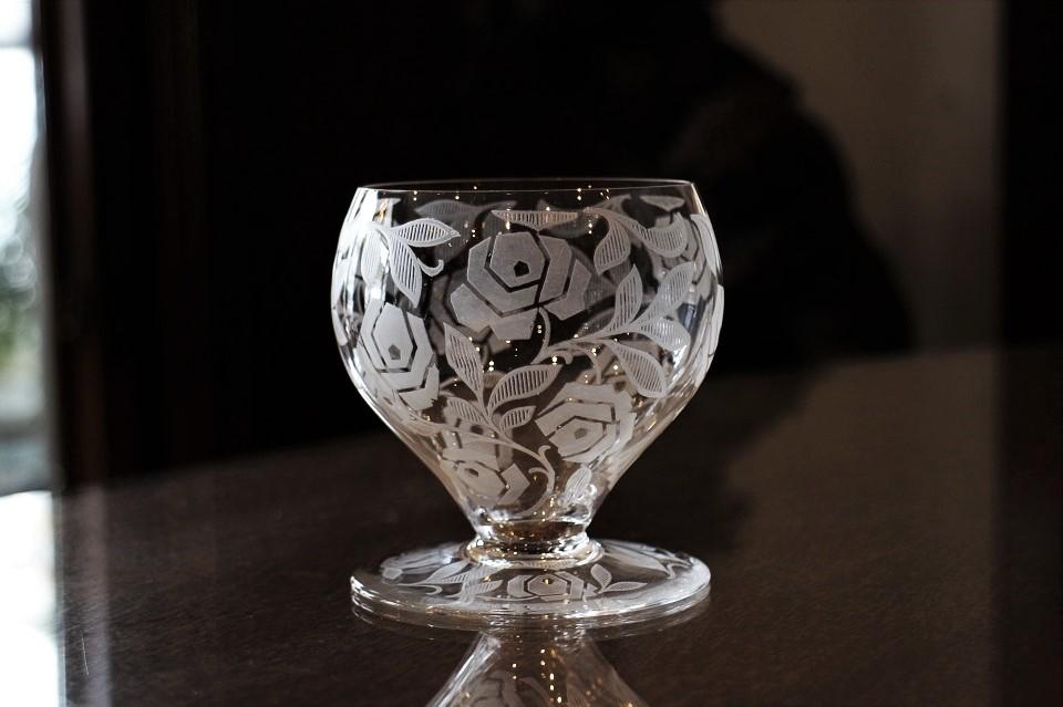 バカラ ジョルジュ・シュバリエ フォントネー ローズ柄 ワイングラス 4816_4883