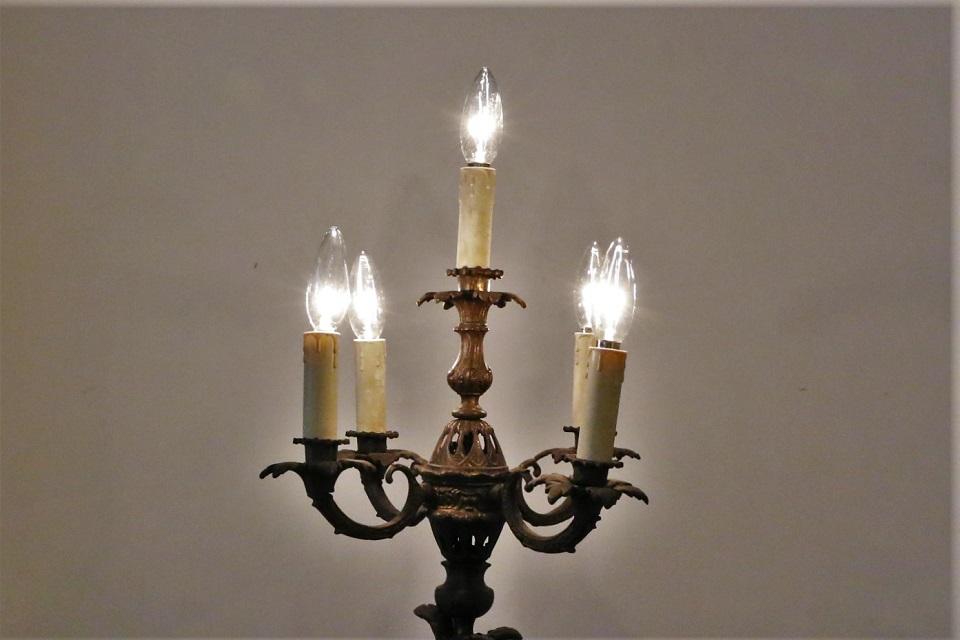 《 SALE 》 エンジェル 5灯式ブロンズランプスタンド 0938