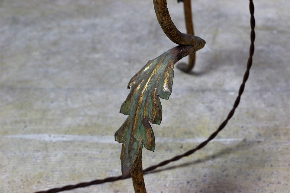 ゴールドペイテッド アイアンフロアランプスタンド 1316