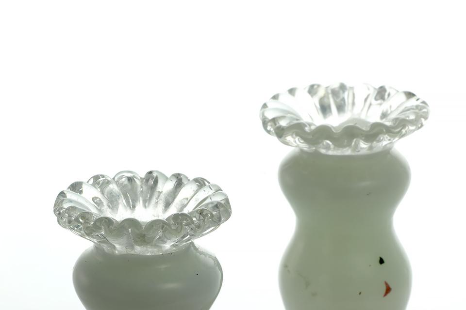 ≪ 貸出中 ≫ 《 SALE 》 フェントン  ガラスケース&キャンドルスタンドセット 652