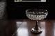 フランス アールヌーボー メタルとガラスのコンポート 5314