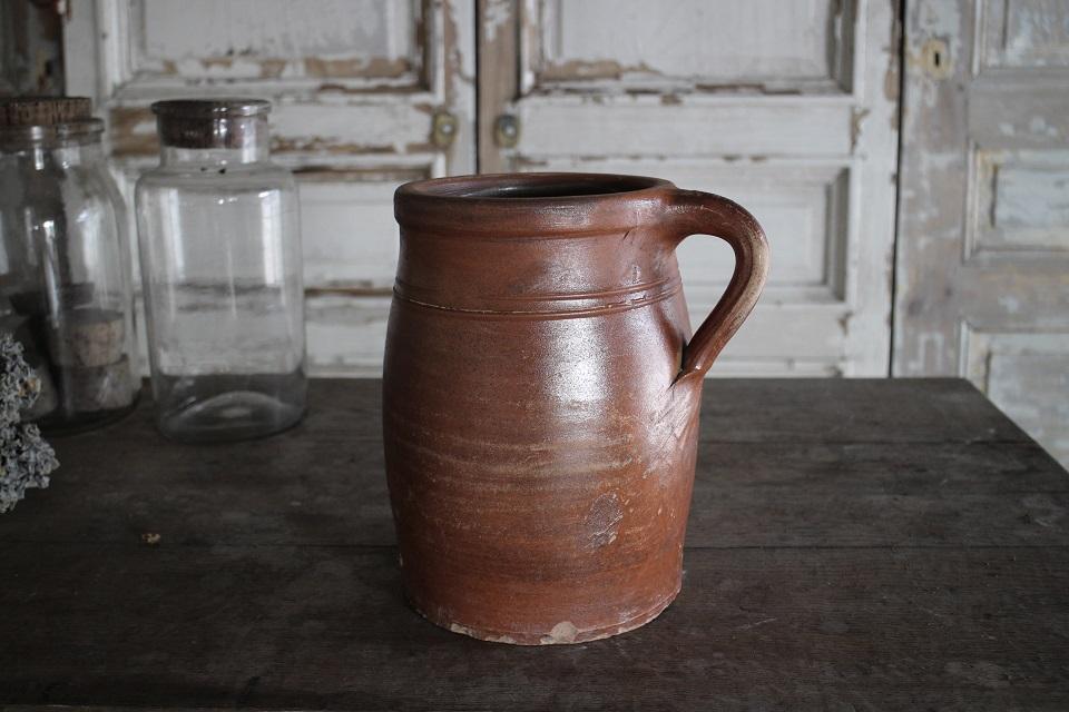 《SALE》 フランス  ノルマンディー 陶器 ポタリージャグ 410807