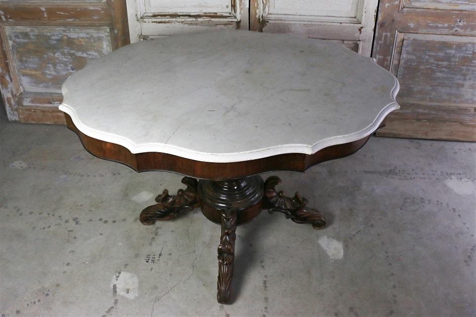 19世紀 大理石天板 ダイニングテーブル 4649