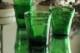 グリーンガラスのチャーチキャンドルホルダー 3164
