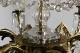 ガラスドロップが揺れる真鍮の6灯シャンデリア 1325
