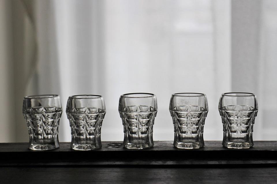 フランス アールデコなウイスキーグラス 3203