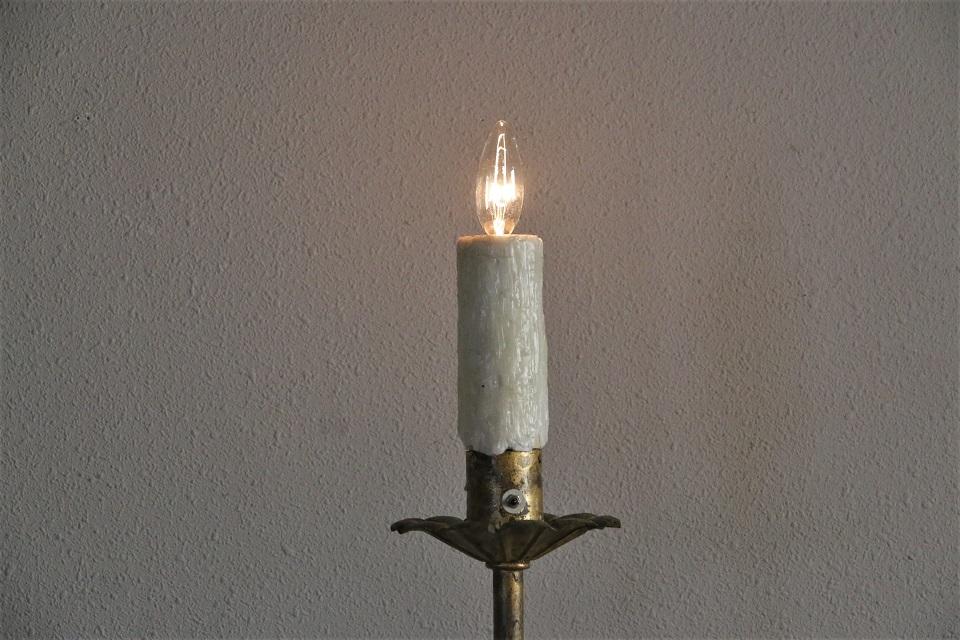 ゴールドペイテッド アイアンフロアランプスタンド 1369
