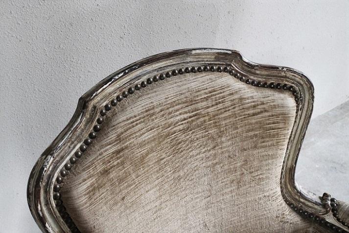 ルイ15世様式 小さなシャビーシックシングルソファ 4654