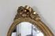 フランス ゴールドにペイントされたリボン装飾のオーバルミラー 4643