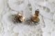 フランス ヴィンテージ 透けるビーズで出来たお花のイヤリング 422505