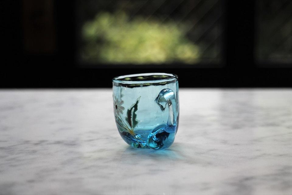 フランス ルグラ エナメル彩 リキュールグラス 499510