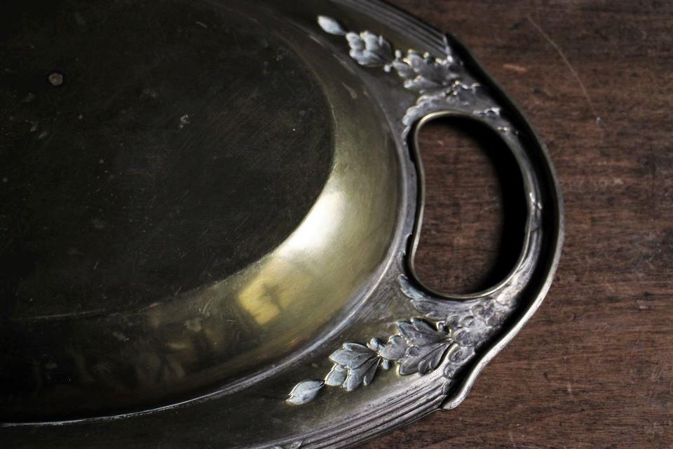 フランス ロココ様式 真鍮トレイ 471101