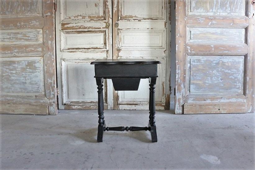 ナポレオン�世様式 ソーイングテーブル 4690