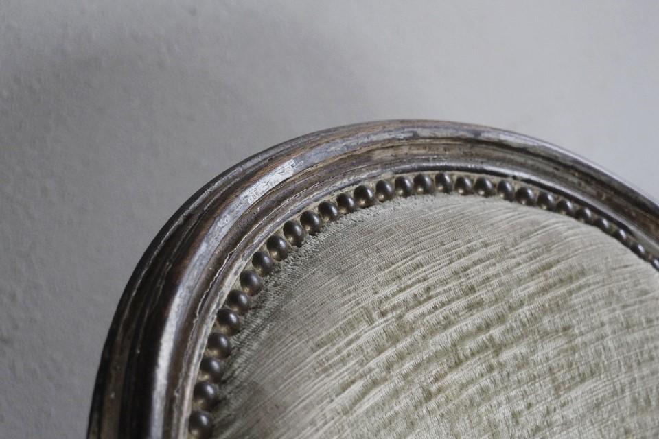19世紀末 ルイ16世様式アームチェア 4660
