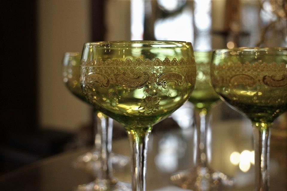 サンルイ シャルトリューズ 金彩ワイングラス 113mm 4885