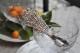 透かし細工の銀色のスプーン 2353