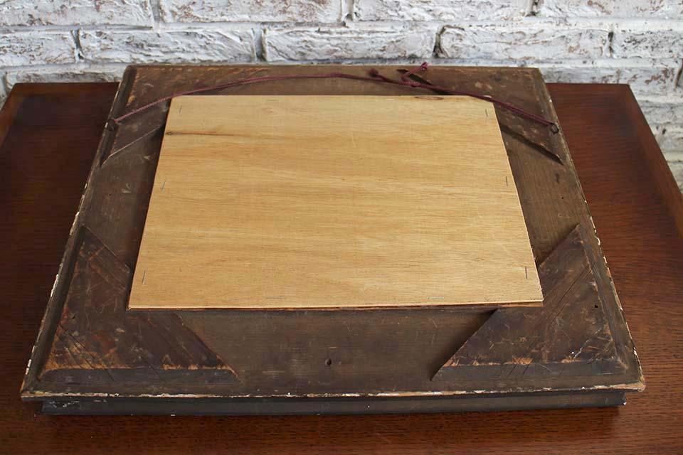 ゴールドペインテッド 木製フレームミラー 1160