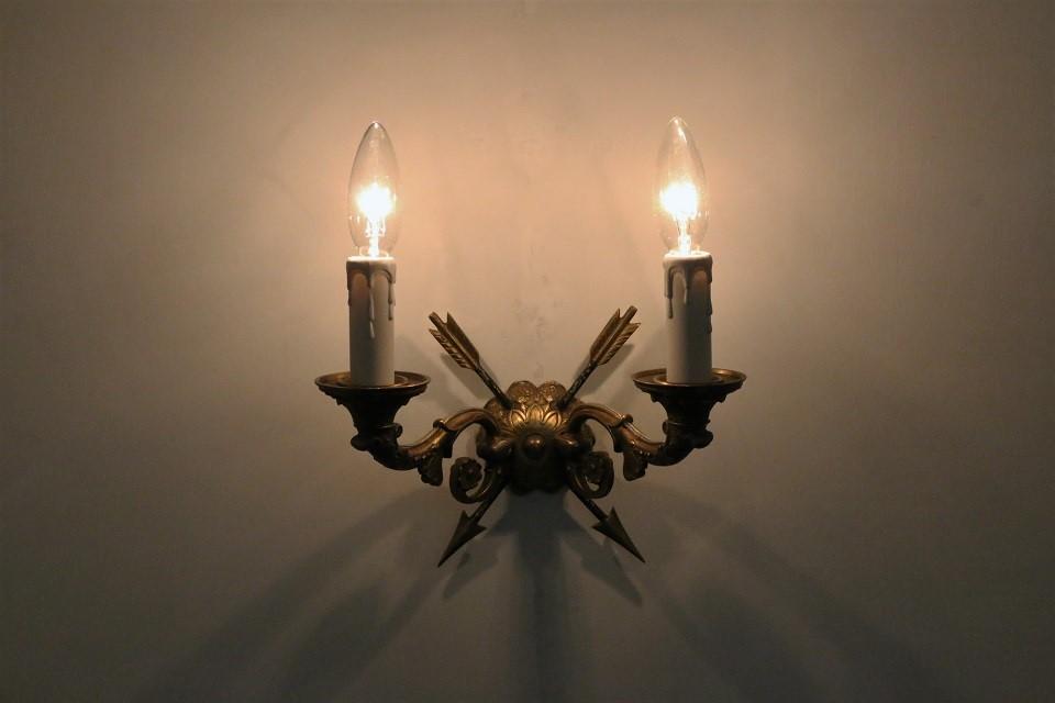 2灯式真鍮ウォールブラケットランプ 4511
