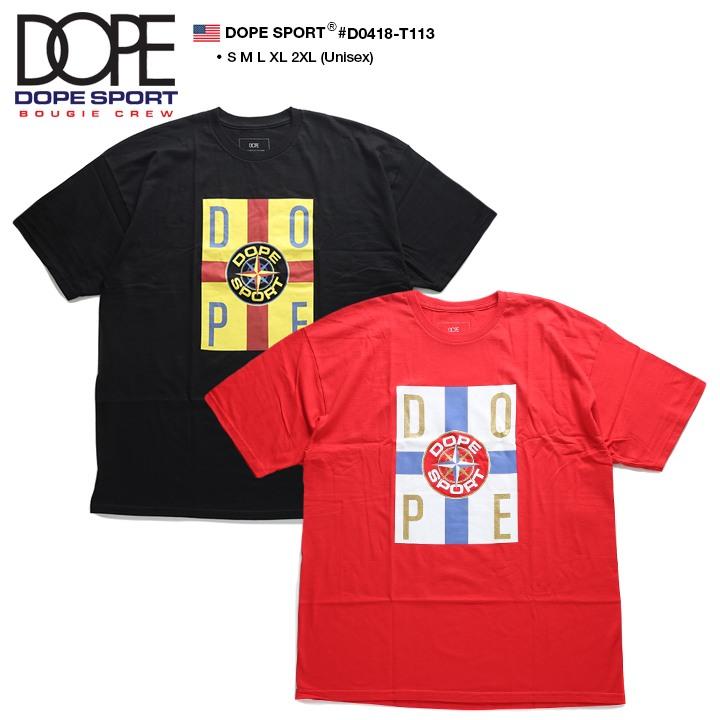 ドープスポーツ DOPESPORT Tシャツ 半袖 BOXロゴ メンズ レディース 黒 赤 S M L XL 2L LL 2XL 3L XXL 大きいサイズ b系 ヒップホップ ストリート系 ファッション ブランド 服 かっこいい おしゃれ ボックスロゴ トリコロールカラー ビッグシルエット D0418-T113