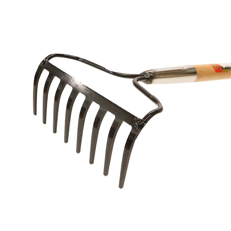 【農作業用品-レーキ】金象印 8本爪レーキ 1200柄付