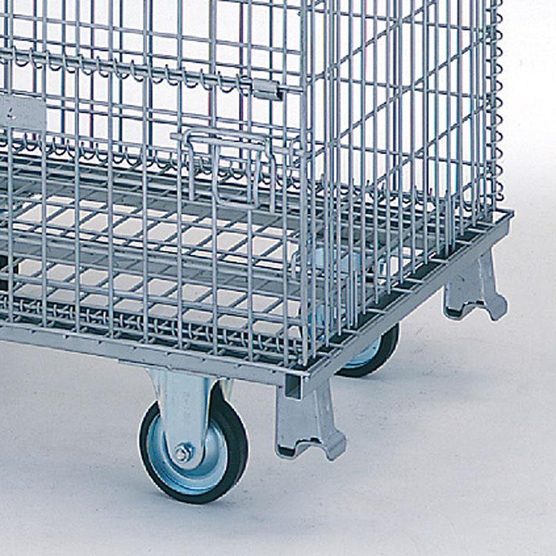 【運搬作業用品-パレット】テイモー ボックスパレット コイルタイプ 609-C キャスター付 <大型・重量商品>