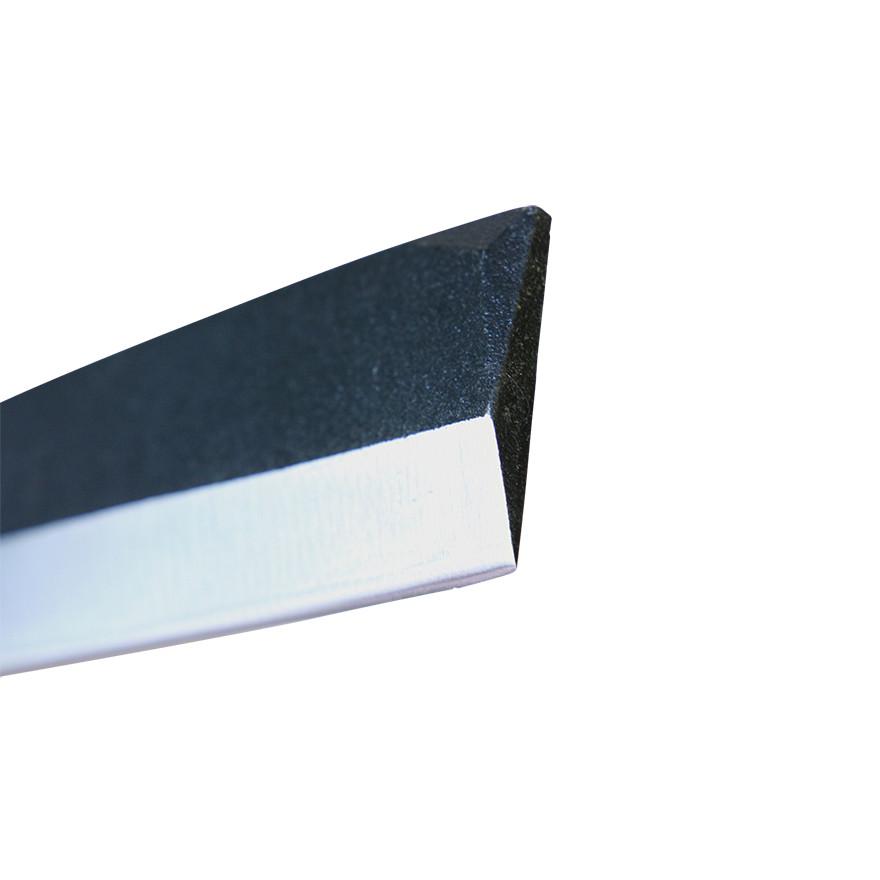 【園芸作業用品-鉈(なた)・斧(おの)】宝長久寛文作 鋼付サヤ鉈 180mm片刃