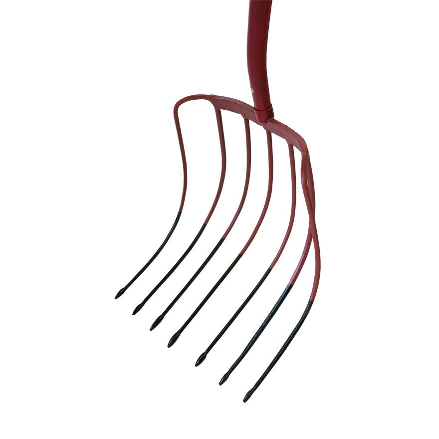 【農作業用品-ホーク】金象印 木柄 ビートホーク7本爪